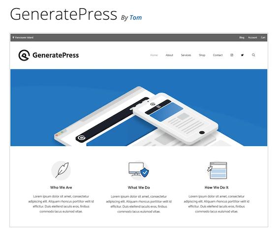 generate press wordpress theme